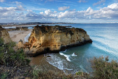 Estudantes beach in Lagos, Portugal Stock Photography