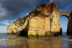 Estudantes beach in Lagos, Portugal Royalty Free Stock Image
