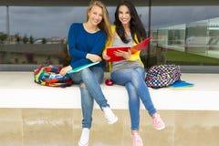 Estudantes bonitos e felizes Fotografia de Stock