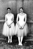 Estudantes da posição de cole supérieure de bailado du Québec do ‰ do l'à imagens de stock royalty free