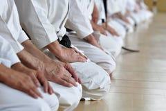 Estudantes de artes marciais Fotos de Stock