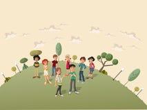 Estudantes do adolescente ilustração royalty free