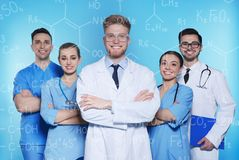 Estudantes do departamento de química foto de stock royalty free