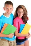 Estudantes do irmão e da irmã Fotos de Stock