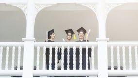 Estudantes dos povos no sentimento de feliz e de gracioso Imagens de Stock