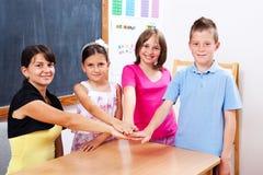 Estudantes e professor unidos Imagem de Stock Royalty Free