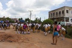 Estudantes em Trinidad (Cuba) Fotografia de Stock
