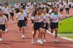Estudantes em uma competição Running Fotos de Stock