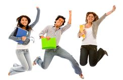Estudantes Excited Fotografia de Stock Royalty Free