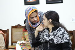 Estudantes fêmeas em Paquistão Foto de Stock