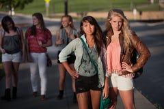 Estudantes fêmeas ensinados foto de stock