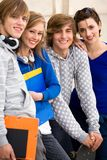 Estudantes felizes Fotografia de Stock