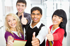 Estudantes felizes Foto de Stock Royalty Free