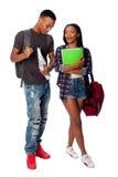 Estudantes felizes que têm o gracejo do divertimento fotografia de stock