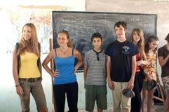Estudantes francesas da visita em Burkina Faso Fotos de Stock