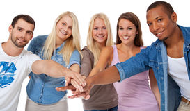 Estudantes motivado Foto de Stock Royalty Free
