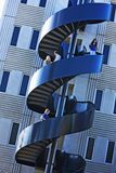 Estudantes na escadaria espiral da universidade Foto de Stock Royalty Free