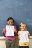 Estudantes na sala de aula fotografia de stock royalty free