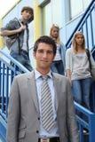 Estudantes nas etapas Imagem de Stock Royalty Free