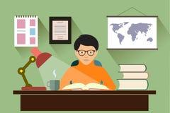 Estudantes nas ilustrações da biblioteca Imagens de Stock