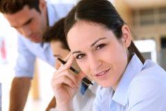 Estudantes no treinamento do negócio Fotografia de Stock