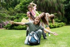 Estudantes novos felizes do retrato Imagens de Stock