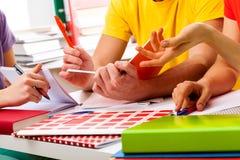 Estudantes que aprendem junto Foto de Stock Royalty Free