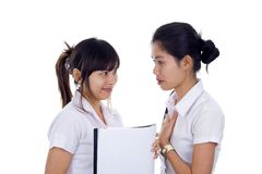 Estudantes que discutem Foto de Stock