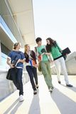 Estudantes universitário no terreno Imagens de Stock