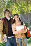 Estudantes universitário no terreno Fotografia de Stock