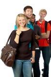 Estudantes universitários/amigos multiculturais Foto de Stock