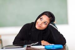 Estudiante árabe que soña despierto Imágenes de archivo libres de regalías