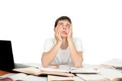 Estudiante aburrido imagen de archivo libre de regalías