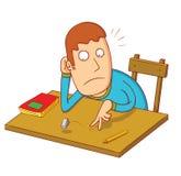 Estudiante aburrido ilustración del vector