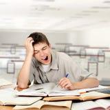 Estudiante aburrido Fotografía de archivo