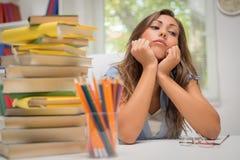 Estudiante aburrido Girl Fotografía de archivo libre de regalías