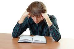 Estudiante aburrido y cansado Fotografía de archivo