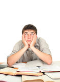 Estudiante aburrido y cansado Imágenes de archivo libres de regalías