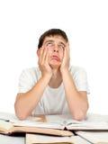 Estudiante aburrido y cansado Imagenes de archivo