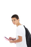 Estudiante adolescente con el bolso de kit Imagen de archivo