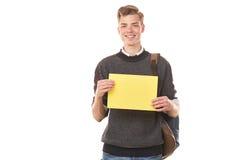 Estudiante adolescente con el papel en blanco Fotografía de archivo libre de regalías