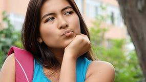 Estudiante adolescente Confused Imagenes de archivo