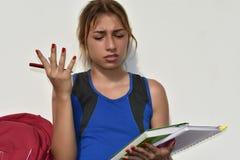Estudiante adolescente And Confusion Fotos de archivo