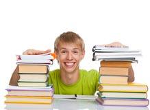 Estudiante adolescente del hombre Imagen de archivo libre de regalías
