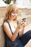 Estudiante adolescente femenino feliz Imagen de archivo