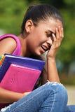 Estudiante adolescente lindo gritador Fotografía de archivo libre de regalías