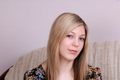 Estudiante adolescente rubio atractivo Fotos de archivo