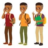 Estudiante afroamericano Boy Imagenes de archivo