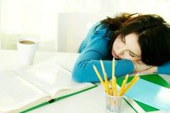 Estudiante agotado Fotografía de archivo