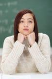 Estudiante asiático joven atractivo dejected Foto de archivo libre de regalías